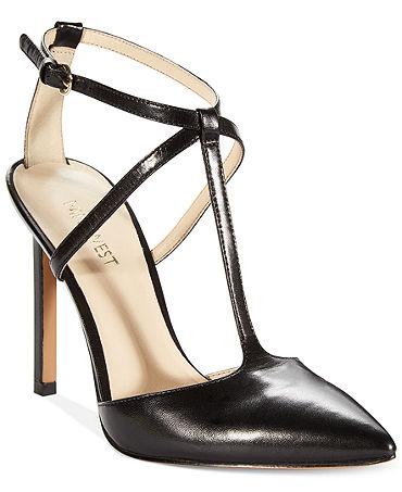 Nine West Tixilated T-Strap Pumps - Shoes - Macy's