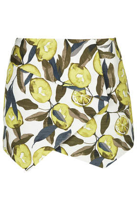 Lemon Print Skort - Skirts - Clothing - Topshop