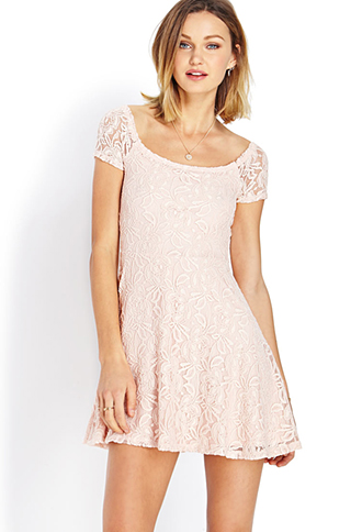 Sweetheart Lace Off-The-Shoulder Dress | FOREVER21 - 2000127085