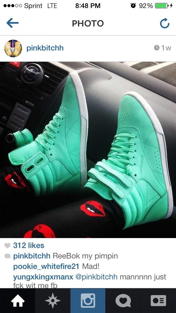 shoes Reebok mint
