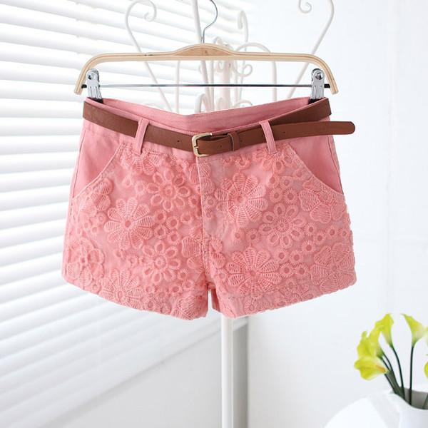 pink shorts short shorts