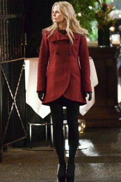 coat emma swan jennifer morrison red coat once upon a time show