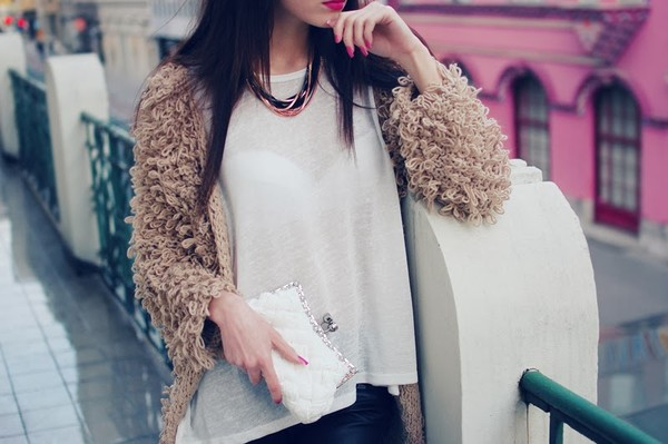 carolina krews bag jewels sweater