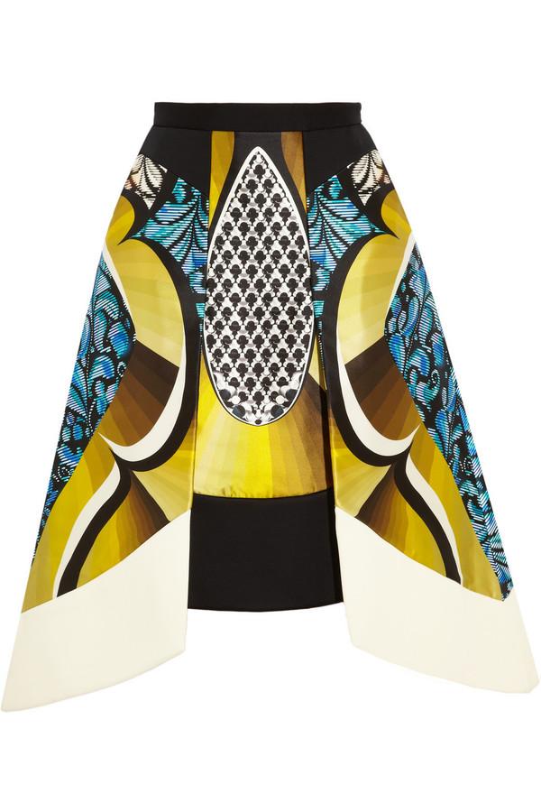 skirt peter pilotto anita printed silk-blend skirt
