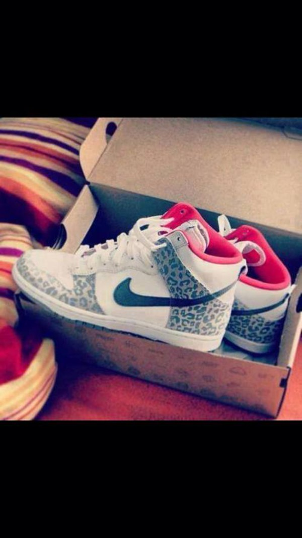 shoes nike leopard print pink sneakers swag