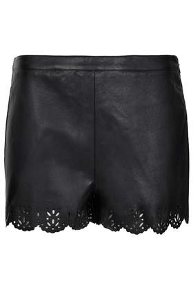 Faux Leather Lazer Cut Shorts - Shorts - Clothing - Topshop