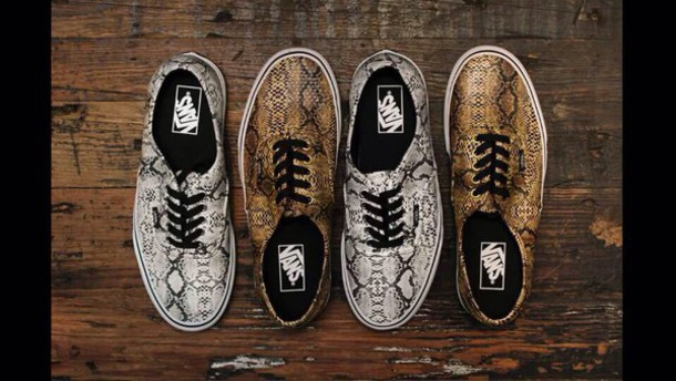 shoes vans snake print printed vans