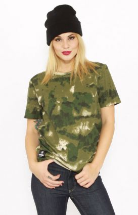 Crooks & Castles, Les Voleurs Camo Women's T-Shirt  - Crooks & Castles - MOOSE Limited
