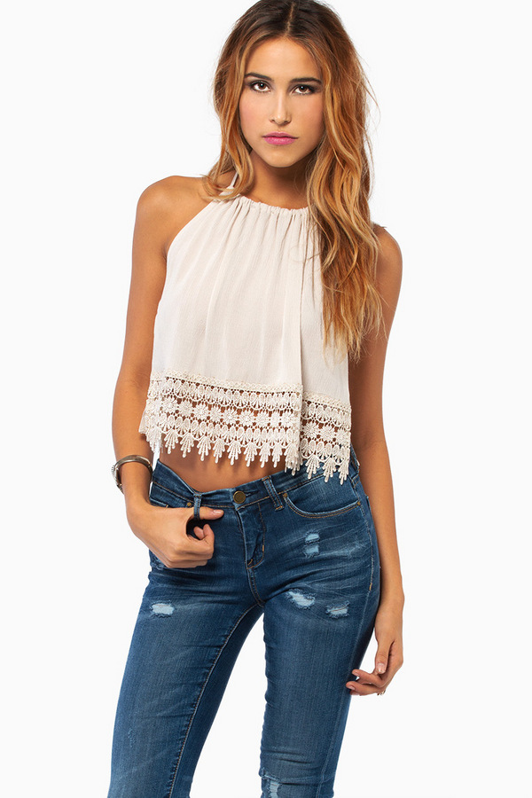 Trish Trim Halter Top - TOBI