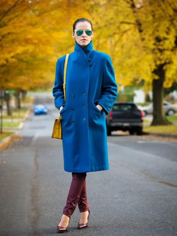 bittersweet colours coat bag jeans shoes sunglasses