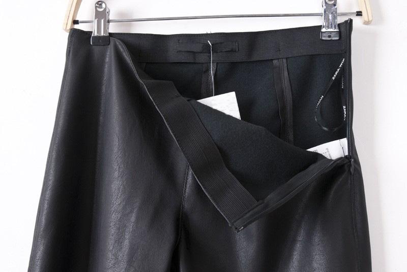 Black Side Zipper PU Leather Skinny Pants - Sheinside.com