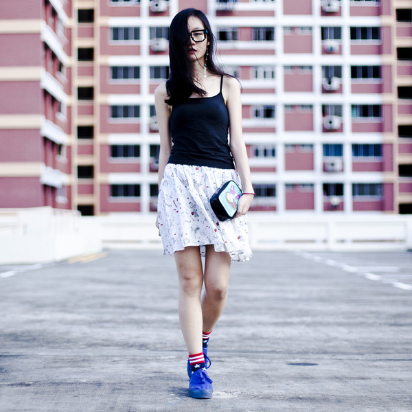 pupuren skirt socks shoes bag jewels