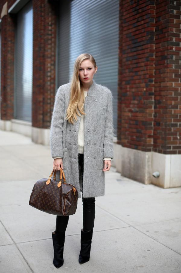 coat sweater pants bag shoes