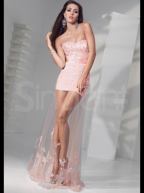 dress pink sweetheart tulle skirt empire dresses