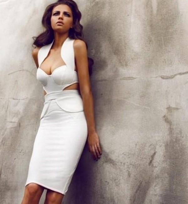dress white midi midi dress bodycon bodycon dress white dress
