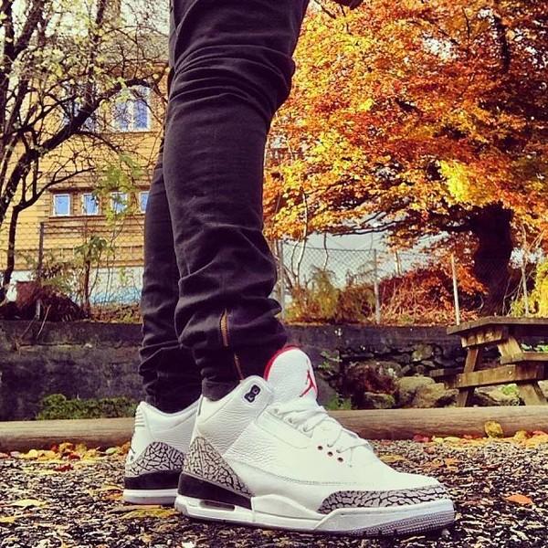 shoes air jordan white sneakers pants