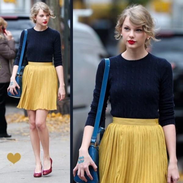 skirt shirt taylor swift sweater