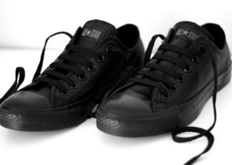 shoes black allstars converse low