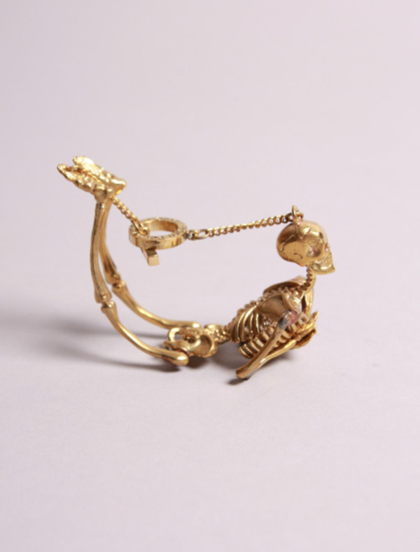 gold skull skeleton bracelets jewels bones