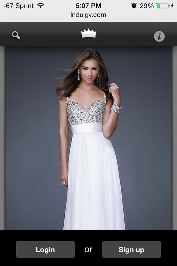 dress white sparkle gown prom
