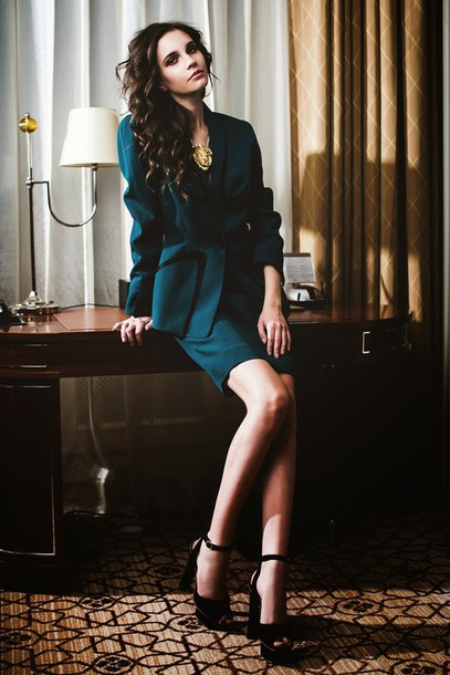 oh my blog blogger forest green tailoring