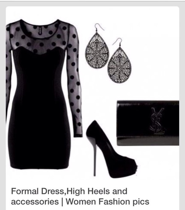 dress ariana grande black little black dress polka dot dress polka dots spots