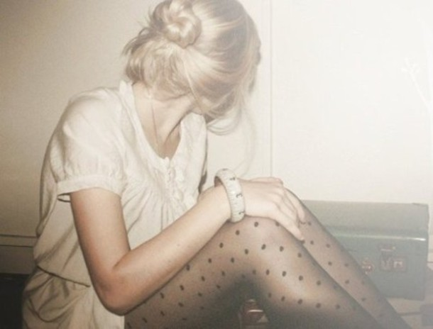 stockings tights pantyhose collants pois polka dots polka dots dotted bun pants