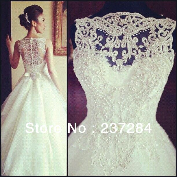 Aliexpress.com : Buy 2014 New Arrival Amazing Sleeveless Crystal Ball Gowns Lace Appliques Wedding Dresses WD0534 from Reliable gown suppliers on Suzhou Babyonline