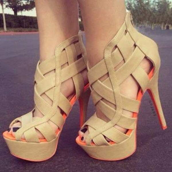 shoes beige shoes high heels