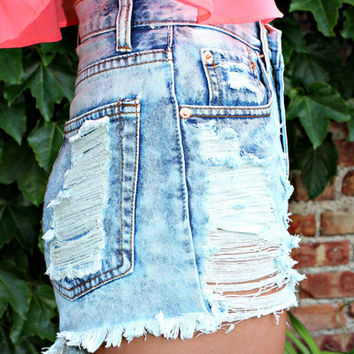 Throw Back Thursday High Rise Shorts on Wanelo