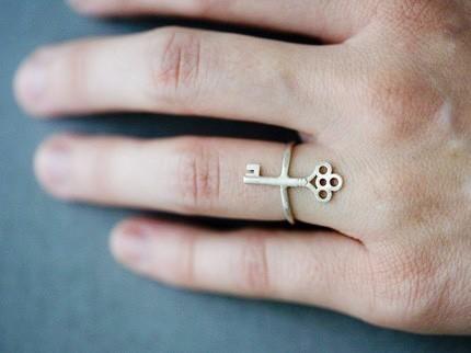 Skeleton Key Ring by annekiel on Etsy