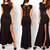 Lady Sexy Lace See-through Back Slim Bodycon Split Side Maxi Long Party Dress UK | eBay