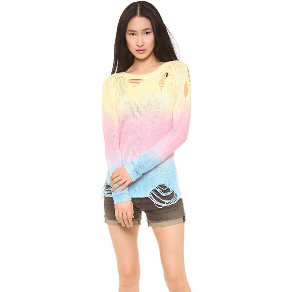 Unif Sherbert Sweater - Multi - Polyvore