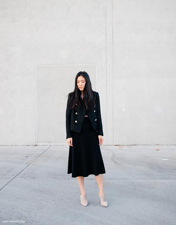 andy heart jacket skirt