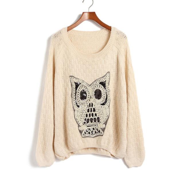 sweater owl sweater