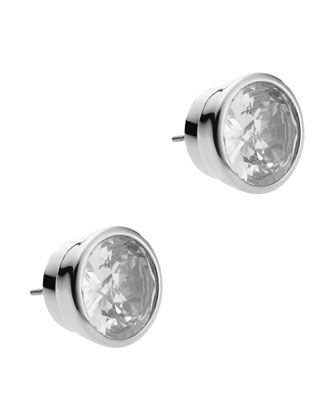 Michael Kors Crystal Stud Earrings, Clear - Michael Kors