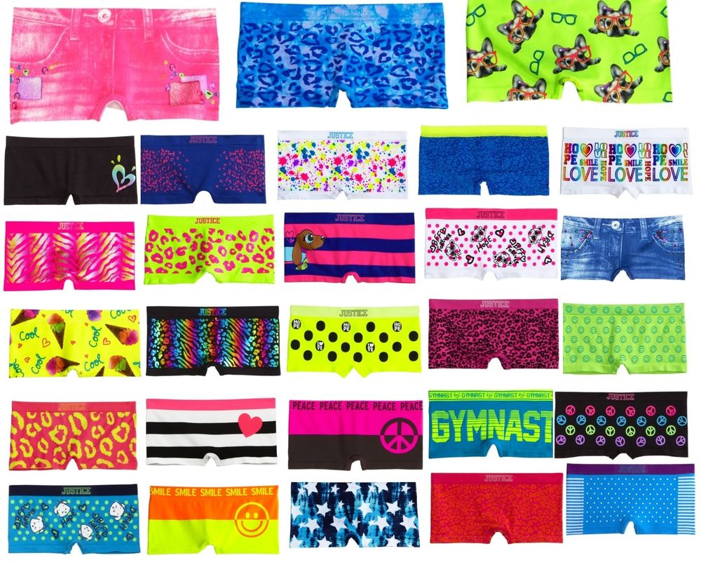 Justice Girls Oh So Soft Boy Short Boyshorts Panties Underwear All Sizes New | eBay