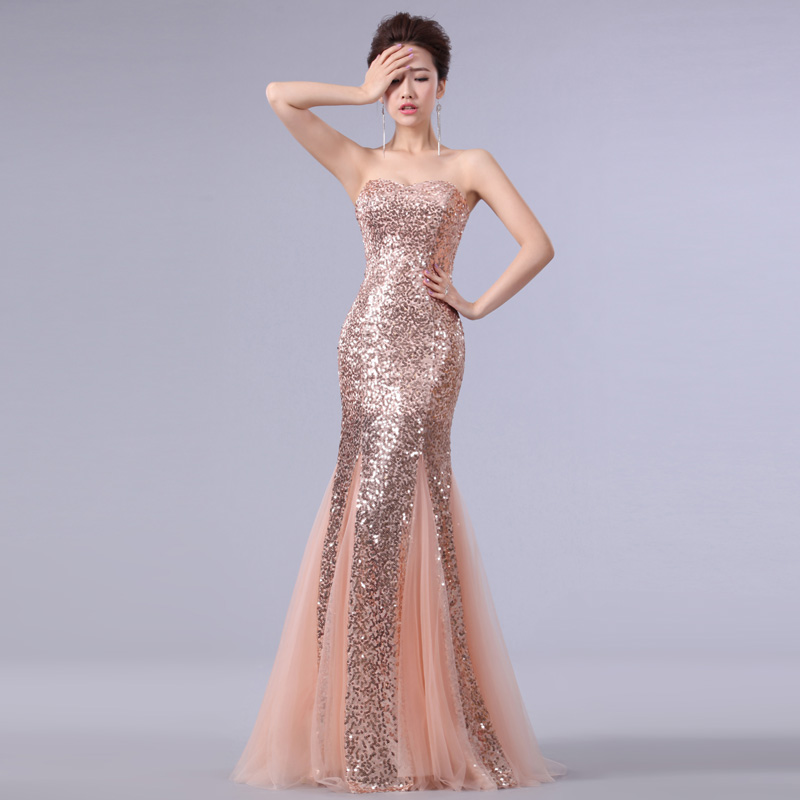 Free Shipping! Precedes 2014 new wedding formal dress tube top fish tail long design costume bride wedding dinner evening dress-inEvening Dresses from Apparel & Accessories on Aliexpress.com