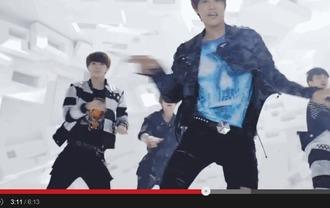 t-shirt music video skull kim jong in blue korean fashion print menswear kfashion
