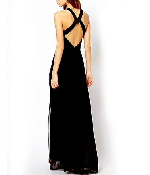 dress party dress fashion style black dress