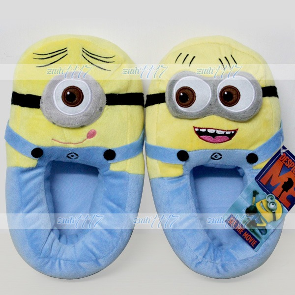 Despicable Me Minion Jorge Stewart 3D Monsters Cosplay Shoes Plush Toy Slippers | eBay