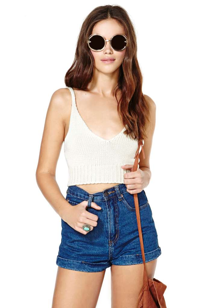Don't Sweat It Crop Top   Shop Cropped at Nasty Gal