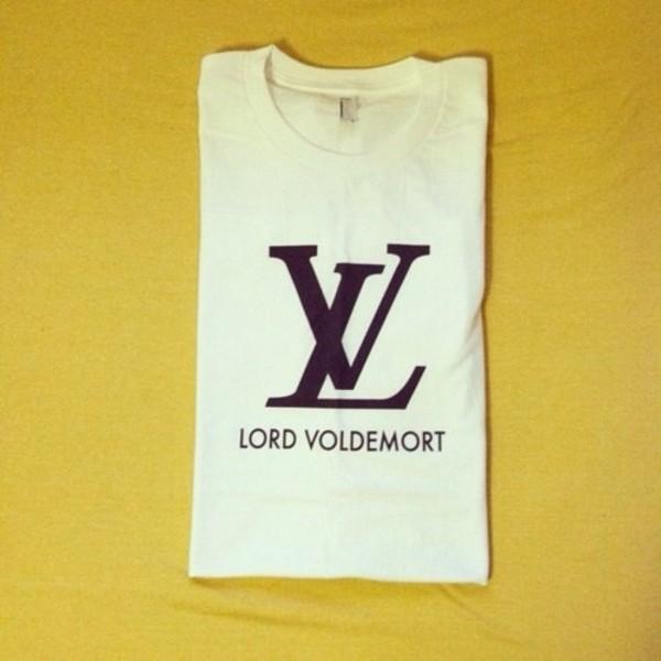 shirt louis vuitton lv lord voldemort white louis vuiton vuitton fashion