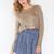 Lola Crop Sweater - Tan