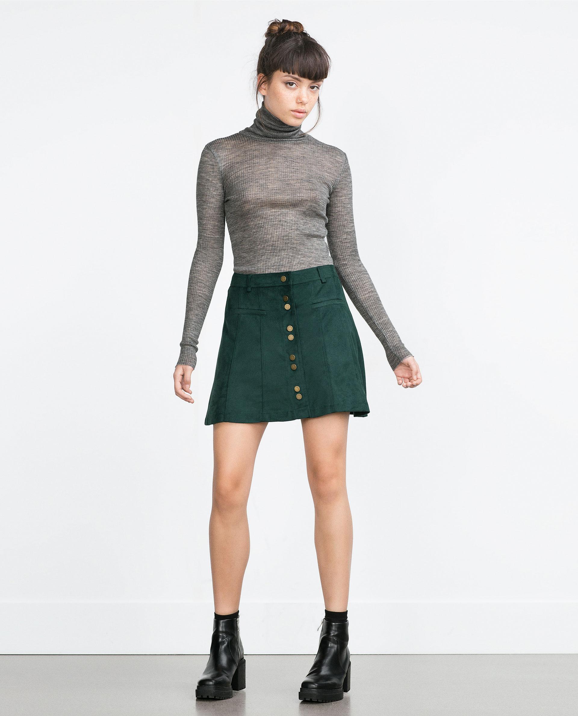 Mini skirts in france Miniskirt With Buttons Mini Skirts Woman Zara France