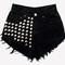 Voldemort black studded vintage levis shorts | runwaydreamz