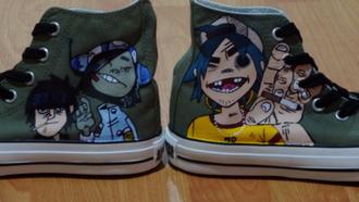 shoes gorillaz gorillaz shoes band shoes