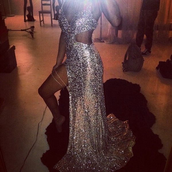 dress silver glitter sparkly dress
