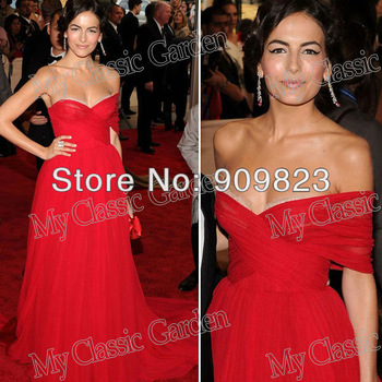 Aliexpress.com : Buy Customer Made Camilla Belle Sweetheart Off The Shoulder Short Sleeves Red Chiffon Evening Elegant Celebrity Dresses from Reliable dress shipping suppliers on my classic garden