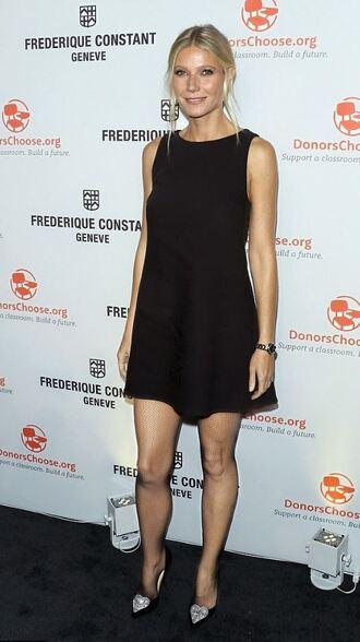 dress black dress little black dress gwyneth paltrow mini dress pumps